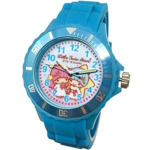 【三麗鷗系列】雙子星運動彩帶手錶-水藍色(網路販售限定款)