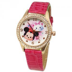 粉嫩TsumTsum水晶鑽精緻腕錶