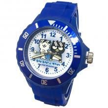 【三麗鷗系列】酷企鵝運動彩帶手錶-深藍色(網路販售限定款)