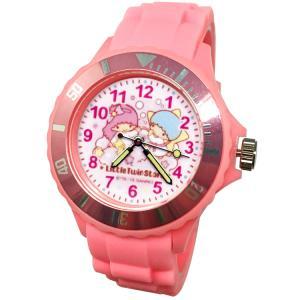 【三麗鷗系列】雙子星運動彩帶手錶-粉色(網路販售限定款)